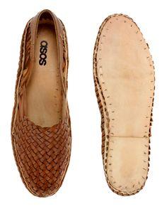 Sandalias tejidas de cuero de ASOS
