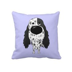 English Setter throw pillow! Oh my, I could put these all over the house!