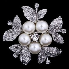 Women's+Flower+Brooch+for+Wedding+Party+Decoration+Scarf+,Fine+Jewelry,Random+Color+–+AUD+$+3.85