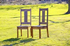 Modern Rustic Highback Dining Room Chair by PennRustics on Etsy