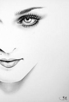 Madonna Bleistiftzeichnung Fine Art Portrait Drucken Hand signiert