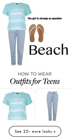 """I am strange   (;"" by tdmcat on Polyvore featuring Topshop, Aéropostale, New Look, beach and summerdate"