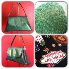 Emerald Green Handbag by Disgraceland on Etsy, $55.00