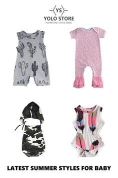 A SELECTION OF THE LATEST STYLES FOR BABY AVAILABLE NOW AT YOLO STORE... Latest Summer Fashion, Baby Clothes Online, Latest Styles, Yolo, Toddler Outfits, Rompers, Store, Stuff To Buy, Shopping