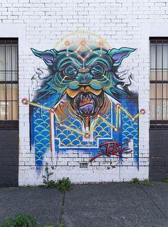 """WOLF"" Artist: Putos, Preston #streetart"