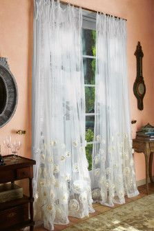 Annalisa Sheer Panel from Soft Surroundings. Inspired by the famous rose garden of the Chateau de Losse.