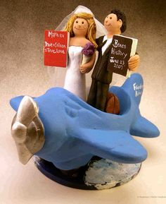 cake toppers for wedding cakes | Airplane Wedding Cake Topper | custom wedding cake toppers