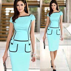 2015 Promotion Short Vestidos De Fiesta Vestido New Elegant Midi Dress Women Work Wear Office Package Hip Slim Beauty