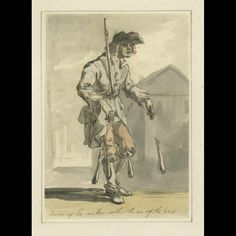 """Laces of the maker within laces of the best ca. 1759 Attributed to: Paul Sandby (1725-1809) Origin: England, London OH: 12 1/2"""" x OW: 9 1/4"""" (mounted); Watercolor H: 7 1/2"""" x W: 5 1/4"""" Pen, ink, and watercolor over graphite Museum Purchase Acc. No. 1965-131,9"""