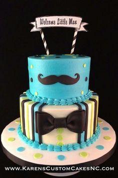 22 Trendy Ideas For Cake Birthday Men Fondant Baby Shower Fondant Baby, Fondant Cakes, Cupcake Cakes, Buttercream Cake, Cupcakes, Baby Shower Cakes, Baby Shower Themes, Shower Ideas, Little Man Cakes