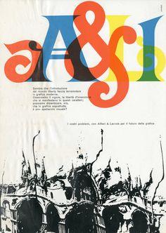 Franco Grignani Pagina pubblicitaria - Alfieri & Lacroix