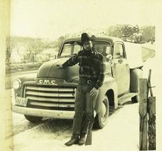 a man his winchester and truck