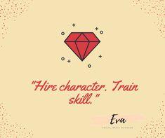 _Hire character. Train skill._      #hire #character #socialmedia #facebookmanage #fiverr