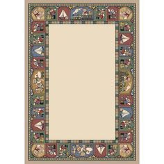 "Milliken Signature Toy Parade Pearl Mist Area Rug Rug Size: Oval 5'4"" x 7'8"""