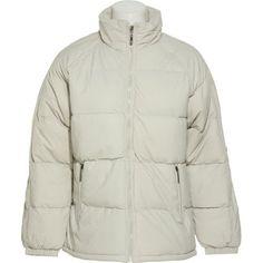 TALLINO Mock Neck Puff Jacket W/ Zippered Pockets [0338A], Gray, Large