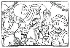 Jesus Changes Water into Wine - Graham Kennedy Coloring Page