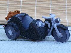 Motorfiets met zijspan van Tintangel op Etsy