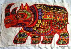 Rhino tea towel for Oxfam (BL?)