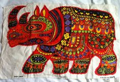 Rhino tea towel for Oxfam (BL?)