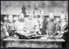 1901 MCV Anatomy Students (l to r): R. B. Davis, Cassell, Willingham, P. Harris, Tucker, & Pettit.