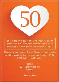 AI_018 Anniversary Invitations, 50th Wedding Anniversary, Invite, Monkey, Playsuit, Birthday Invitations, Golden Anniversary, Monkeys