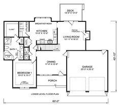 План Дома Уровень 45511 Один