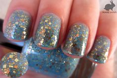 HARE polish - Oceans of Alloys (Finder's Keepers: Fall 2012 Glitter Collection) Cute Nail Art, Cute Nails, Pretty Nails, Shiny Nails, Fancy Nails, Colorful Nail Designs, Cool Nail Designs, Hair And Nails, My Nails