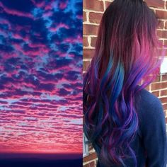 You're Going To Love This Hair Trend #refinery29  http://www.refinery29.com/2015/11/97884/sunset-hair-instagram-trend#slide-7  This blue-and-pink sky-inspired hair is perhaps our favorite of the bunch. ...