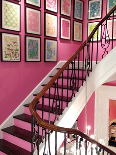 Cheerful pink staircase :)