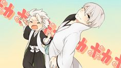 Not entirely sure what this is, but Toshiro looks adorable... And Gin has an eye open.