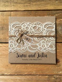 Rustic Wedding Invitation Rustic Vintage by StunningStationery
