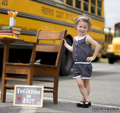 Back to School Mini Sessions  |  Lindsay Galloway Photography  Love her little romper.