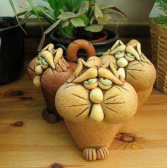 Clay Cats created by artobject of Blasko, CR