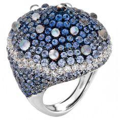 Multi-Gemstone and Diamond Ring by Porrati