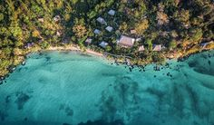 """Tsra Komba Beach & Forest Lodge from above. We are very grateful for being on such a beautiful island. That's why we actively support local communities: with our NGO """"Des villages et des Hommes"""" and through economic empowerment. Archipelago, Beautiful Islands, Support Local, Community, River, Week End, Madagascar, World, Beach"""