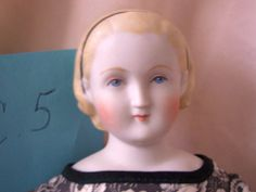 """LOVELY ALICE  BISQUE PARIAN Cloth Body  REPRODUCTION DOLL15"""""""