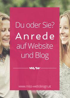 Anrede auf Website und Blog | miss-webdesign.at