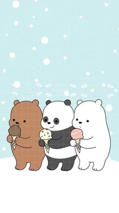 Iphone 6 We Bare Bears Christmas Wallpaper Cute Disney Wallpaper, Kawaii Wallpaper, Cute Wallpaper Backgrounds, Wallpaper Iphone Cute, Animal Wallpaper, Colorful Wallpaper, Mobile Wallpaper, Wallpaper Quotes, Cute Tumblr Wallpaper