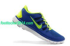 Nike Free Trainer 5.0 Size 12 Sneaker For Men Blue Green