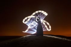 Light-painting in Dubai by Eric  Paré on 500px.com
