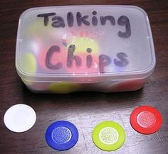 Talking chips: to ensure equity of voice during classroom discussions. Could also be handed out at the beginning of class to each student so they have to use them to answer/respond to/question a topic or question Classroom Routines, Classroom Behavior, Classroom Community, School Classroom, Classroom Ideas, Classroom Procedures, Kids Behavior, Classroom Design, Science Classroom