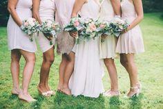 August wedding Troy Alabama, Mix Match Bridesmaids, August Wedding, Bridesmaid Dresses, Wedding Dresses, Traditional Wedding, Vintage Dresses, Portrait Ideas, Chic