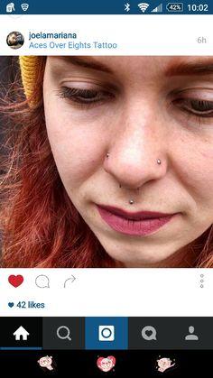I like the philtrum piercing. Philtrum Piercing, Piercings, Jewels, Tattoos, Fashion, Peircings, Moda, Piercing, Tatuajes