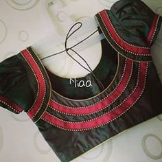 Source by Blouses Blouse Designs High Neck, Cotton Saree Blouse Designs, Patch Work Blouse Designs, Best Blouse Designs, Simple Blouse Designs, Stylish Blouse Design, Kurti Neck Designs, Blouse Designs Catalogue, Magazine Mode
