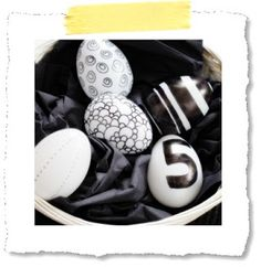 Eier mit Edding bemalen