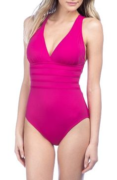 62f93d0bdb Free shipping and returns on La Blanca Cross Back One-Piece Swimsuit at  Nordstrom.