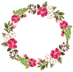 Frame Floral, Flower Frame, Flower Wall, Wreath Watercolor, Watercolor Flowers, Watercolor Art, Invitation Background, Borders And Frames, Frame Wreath