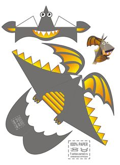 Blog_Paper_Toy_papertoy_Dragon_Anton_Narod_template_preview