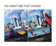 Deadpool 2 doubled down on the references and inside jokes, giving a whole new generation of hilarious memes. Funny Marvel Memes, Marvel Jokes, Marvel Dc Comics, Marvel Avengers, Funny Memes, Deadpool Funny, Deadpool Movie, Avengers Memes, Funny Pics