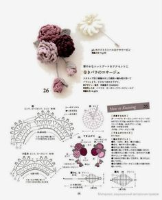Watch The Video Splendid Crochet a Puff Flower Ideas. Wonderful Crochet a Puff Flower Ideas. Col Crochet, Crochet Brooch, Crochet Diy, Crochet Diagram, Crochet Chart, Crochet Motif, Irish Crochet, Crochet Earrings, Crochet Flower Patterns